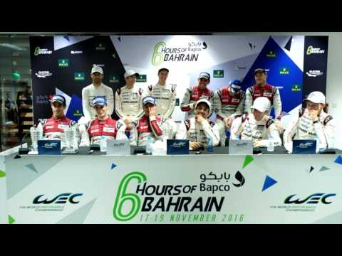 WEC - 2016 6 hours of Bahrain - Post Race press conference
