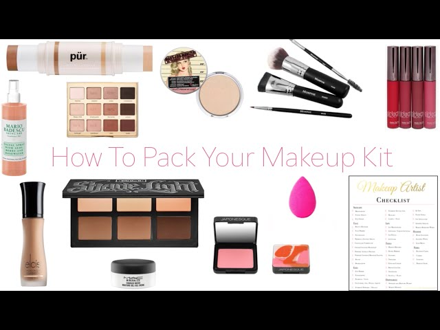 How To Pack Your Makeup Kit | Traveling MUA | fortheloveofmakeupbaby
