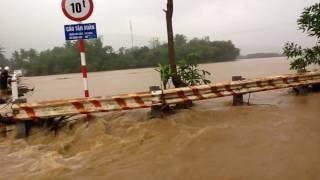 Lũ ngày 8/12/2016 tại Cầu TÂN XUÂN - Ân Hảo Đông - Hoài Ân - Bình Định