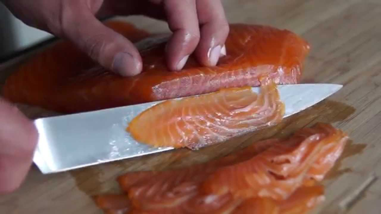 cold smoked salmon nova lox recipe youtube