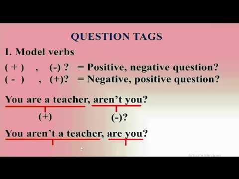 How to make question tag in English, lesson 1