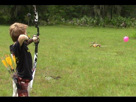 Archery Trick-shot (moving balloon) RC Archery