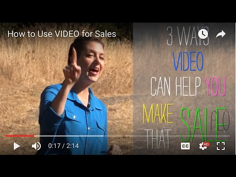How to Use VIDEO for Sales