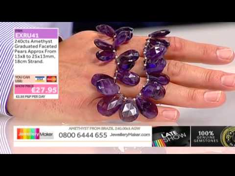 Ruby and Black Spinel on The Late Show with Ed McKay (JewelleryMaker) LIVE 16/09/2014