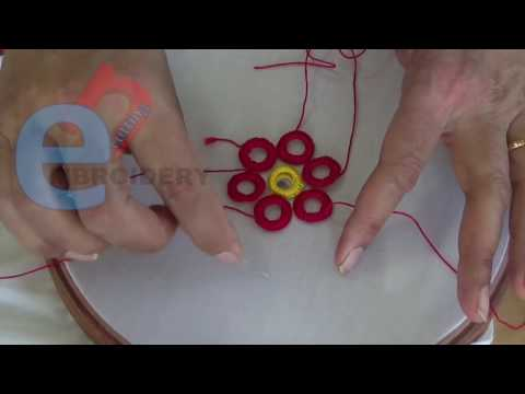 Hand Embroidery: Making mirror rings with hand