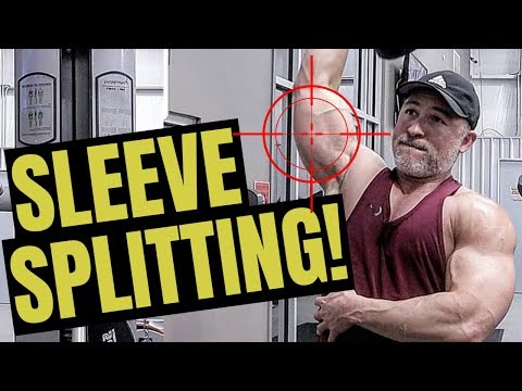How To Get Big Triceps FAST (Sleeve Splitting Workout!)