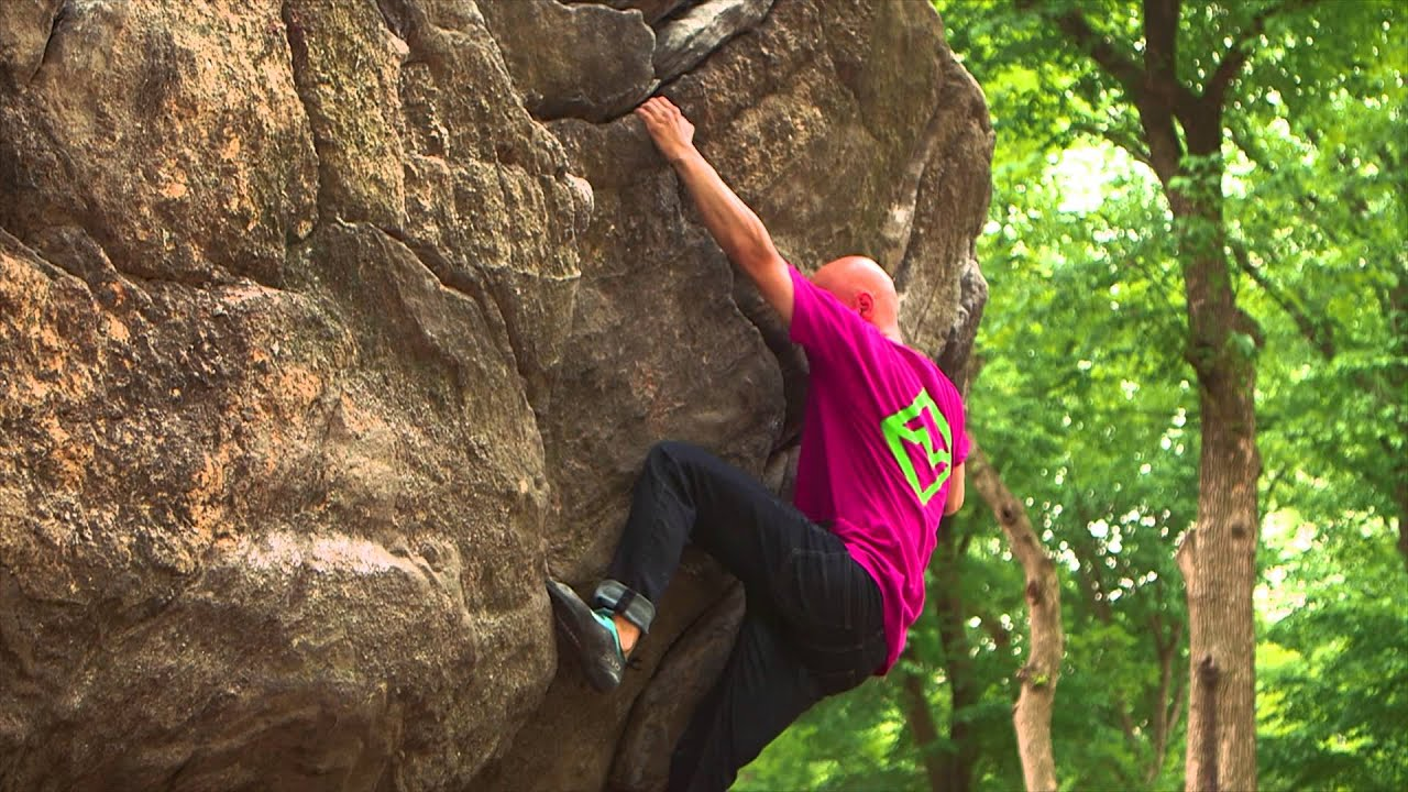 Rock Climbing In The Middle Of New York City's Central