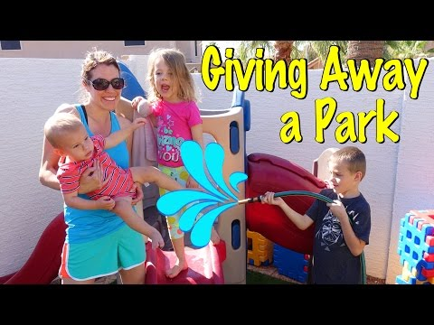 Giving Away Little Tikes Playground Kids Park Equipment + Playing On Step 2 Extreme Roller Coaster