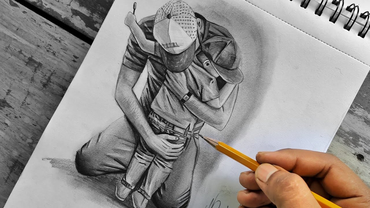 Father And Son Heart Touching Drawing Youtube