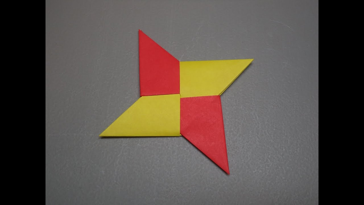 How To Fold an Origami Ninja Star / Shuriken - YouTube - photo#4