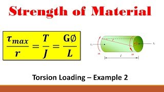 Strength of Materials (Part 13:Torsion Equation Example - Angle of Twist)