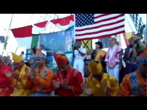 """KRI Dewa Ruci, New Orleans, LA, USA """"Indonesian Night 19 April 2012"""" - part 1"""