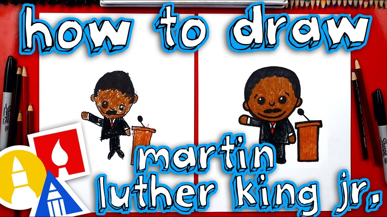 How To Draw Cartoon Martin Luther King Jr Youtube