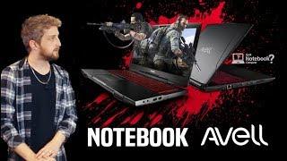 Notebook Avell Gamer e profissional com Intel Core de 8ª geração 2018