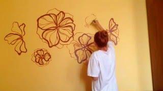 Простая роспись стен своими руками ( painting walls )