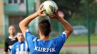 Bramkarz Kurpika Kadzidło strzelił gola
