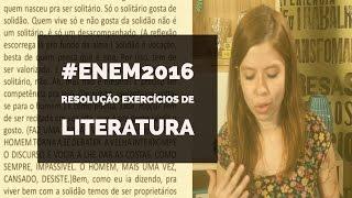 ENEM 2016: Resolução Exercícios de Literatura