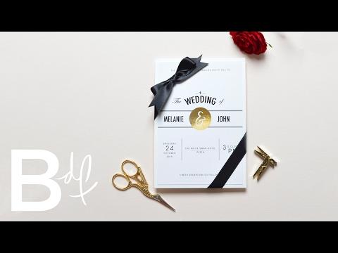 Top 5 Wedding Invitations on Etsy
