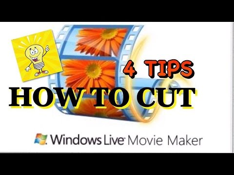 windows movie maker how to cut parts of video