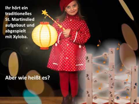 Sankt Martin/Laternen-Lied aufgebaut und abgespielt mit der Kugelbahn Xyloba