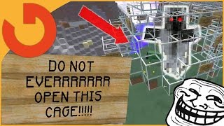 Why this Cage Should NEVER be Opened! (Minecraft Trolling)