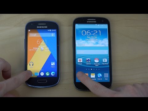 Samsung Galaxy S3 Mini Android 5.0.2 Lollipop vs. Samsung Galaxy S3 Android 4.4.4 - Opening Apps