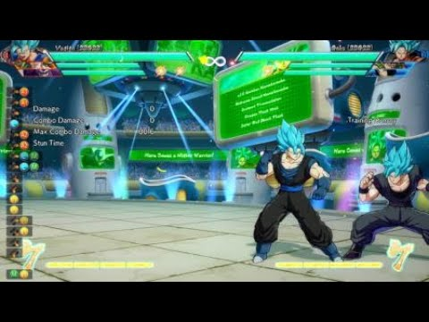 Dragon ball   fighterz ssb sgss vegito 100% Combo