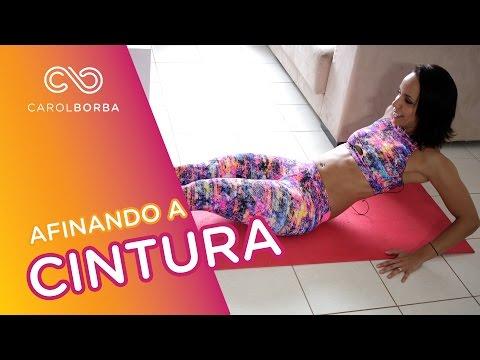 Exercícios para afinar a cintura em 3 minutos - Carol Borba