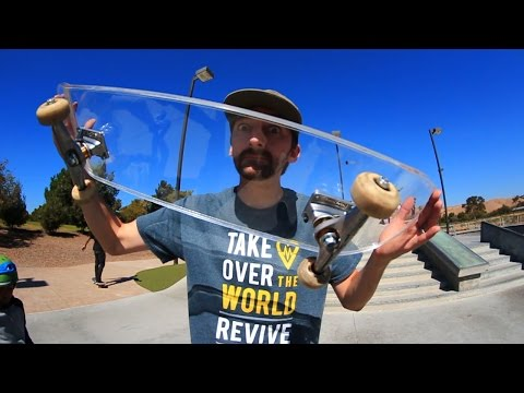 CRYSTAL CLEAR ACRYLIC SKATEBOARD | YOU MAKE IT WE SKATE IT EP 44