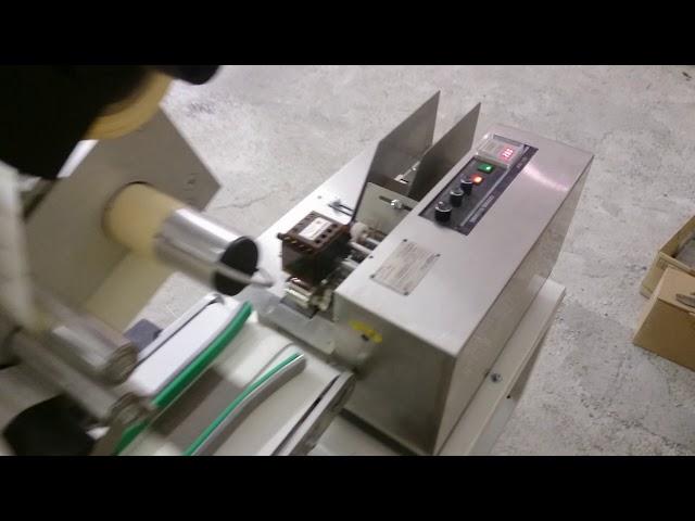 Этикетировка карточек с автоматическим податчиком