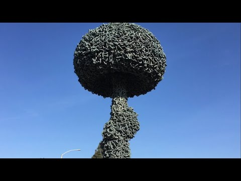 Atomic Hydrogen Bomb Chain Sculpture in Santa Monica