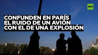 Se escucha un fuerte ruido de explosión en París causado por avión que rompió la barrera del sonido