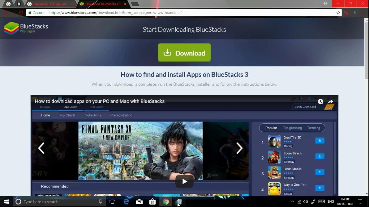 Download bluestacks free compressed