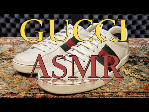 ASMR GUCCI SNEAKER Cleaning | How To Clean White GUCCI Sneakers