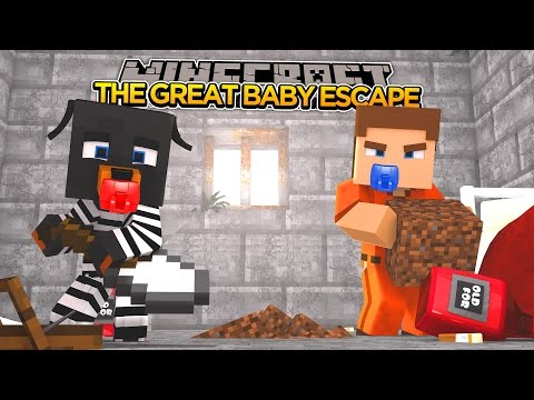 Minecraft - THE GREAT BABY ESCAPE - Minecraft Tiny Club Adventures - Little Baby Max -