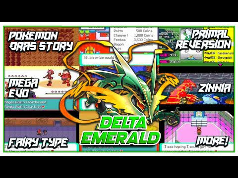 Pokemon Delta Emerald - Completed GBA ROM Hack With ORAS Story, Mega Evo, Primal Reversion And More!