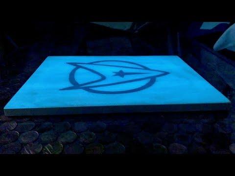Making A Star Trek Logo Cheese / Cutting Board (that Glows In The Dark)