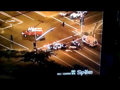 Police chase a stolen taxi cab