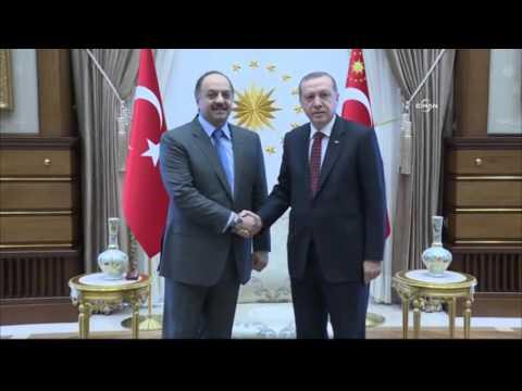 Erdoğan, Katarlı Bakan Al-Atiyah'ı kabul etti