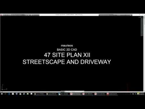 maurieos BASIC 2D CAD 47 SITE PLAN XII STREETSCAPE AND DRIVEWAY