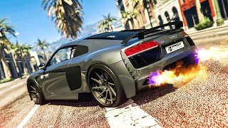 AMAZING AUDI R8 CAR MOD! - (GTA 5 Stunts & Fails)