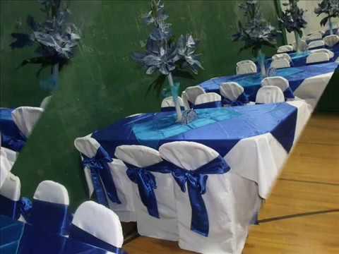 Faos events decoracion color azul royal y turquesa youtube for Decoracion salon gris y turquesa