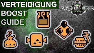Monster Hunter World: Verteidigungs-Booster Guide (Deutsch/German)