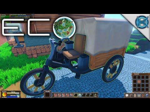 Eco | The Powered Cart | Let's Play Eco Gameplay | S01E22