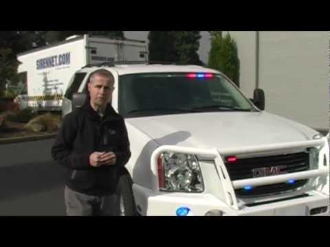 White GMC Yukon XL Emergency Vehicle Install
