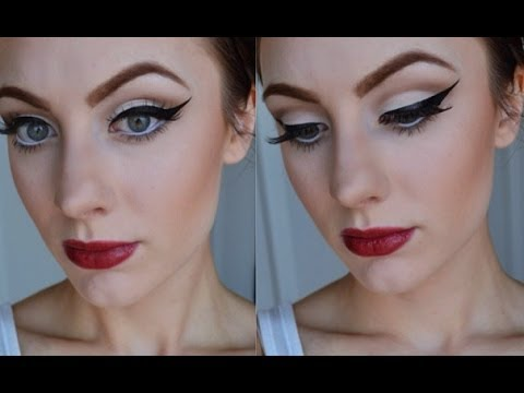 retro pin up inspired makeup tutorial youtube