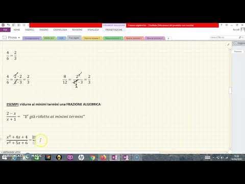 1 Le frazioni algebriche - introduzione from YouTube · Duration:  15 minutes 2 seconds