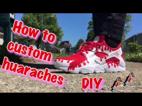 Custom Huaraches drip | Tutorial | DIY |