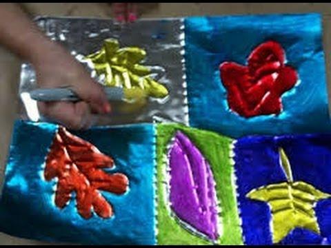 Manualidades con papel aluminio 4 youtube - Manualidades con pompones ...