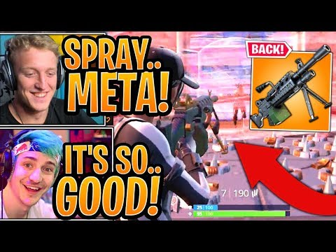 "Streamers USE & React to the *UNVAULTED* ""LMG"" Light Machine Gun! - Fortnite Moments"